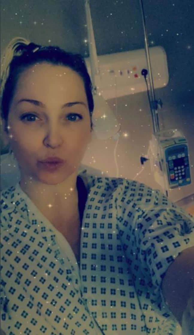 Sarah Harding is battling advance stage breast cancer (Credit: Twitter/Sarah Harding)