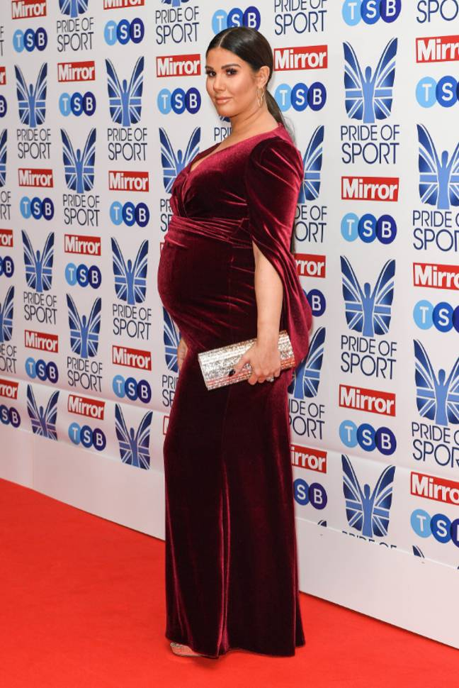 Rebekah was pregnant when she was called out by Coleen (Credit: PA)