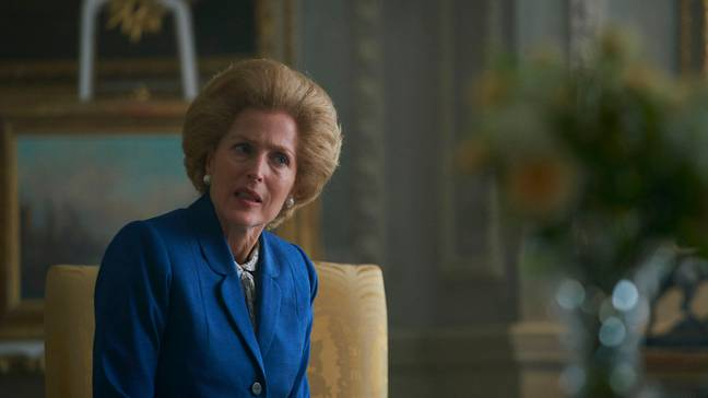 Amanda was referencing Gillian Anderson's performance as Margaret Thatcher in 'The Crown' (Credit: Netflix)