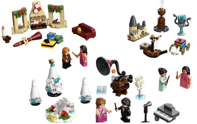 The Lego kit is stuffed full of items for the Yule Ball (Credit: Lego)