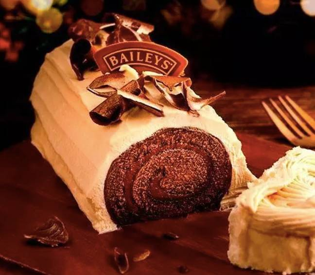 Excuse us while we drool at this Yule Log (Credit: Baileys/ Finsbury Food Group)