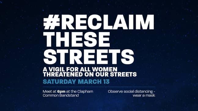 Women are organising vigils to 'reclaim the streets' (Credit: Facebook)