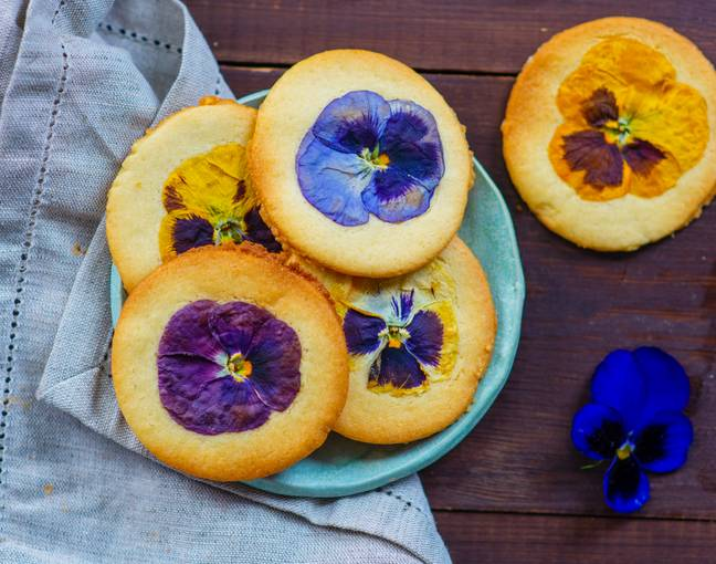 Marks and Spencer's edible flowers can be used in baking and in drinks (Credit: Marks and Spencer)