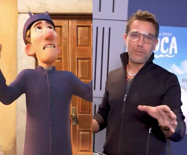 Gino is playing a priest named Eugenio (Credit: Gino D'Acampo/Disney)