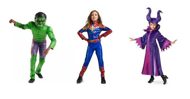 Kids will love channelling their favourite Disney characters in the head-to-toe costumes (Credit: Disney)