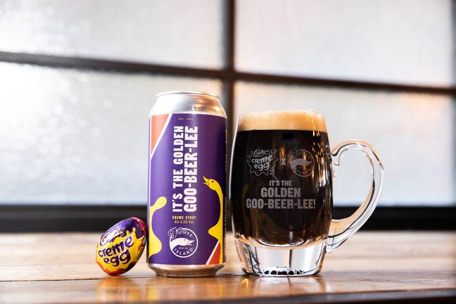 The Golden Goose beer takes inspiration from Cadbury's iconic Creme Egg (Credit: Goose Island)