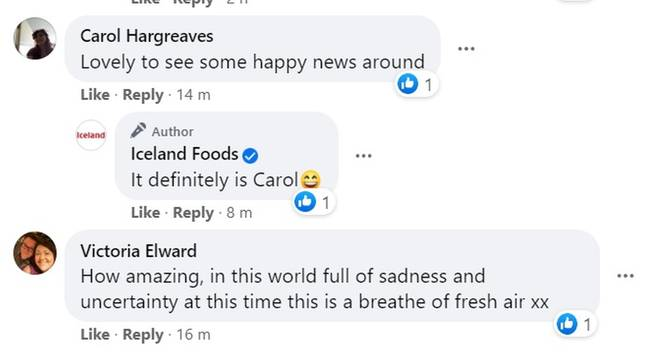 Facebook users were pleased to see some happy news (Credit: Kennedy News and Media)