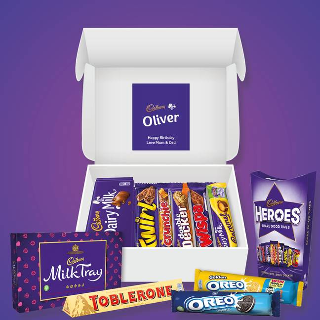 Or maybe a hamper of chocolate is more to your liking? (Credit: Cadbury)