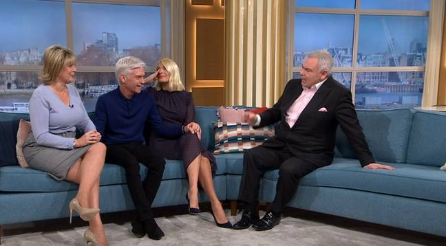 Phillip was joined by his 'This Morning' co-hosts on the sofa on Friday (Credit: ITV)