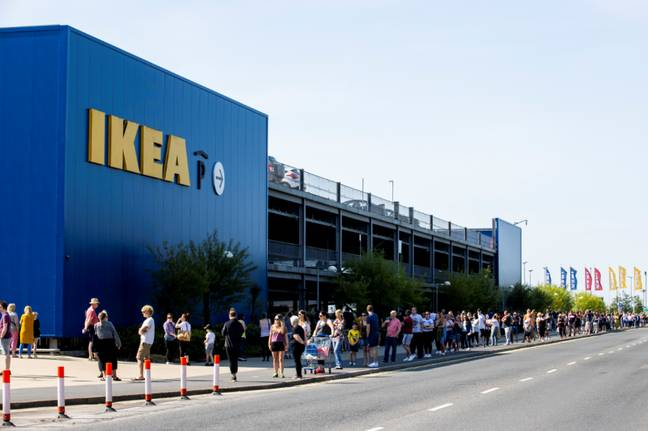 Queues were stretching round the block (Credit: PA)