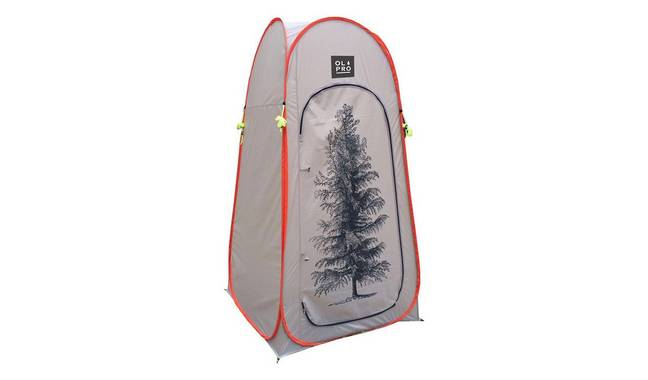 Olpro Pop-Up Toilet Tent with tree print, £49.99. Credit: Argos