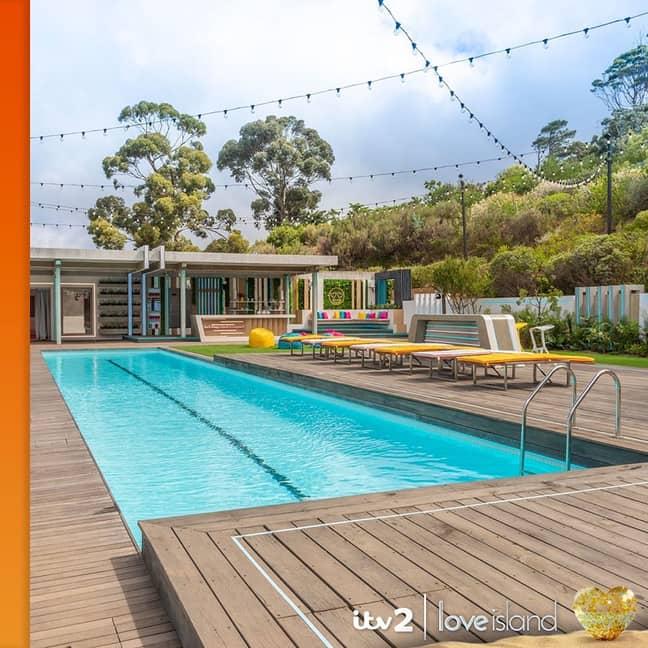 The Love Island pool ' Credit: Instagram/loveisland