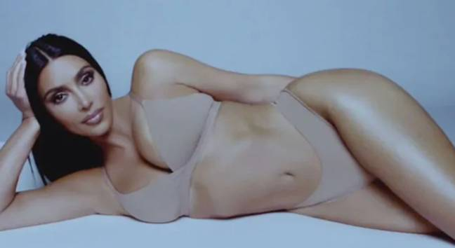 Kim's curves seemed edited (Credit: SKIMS)