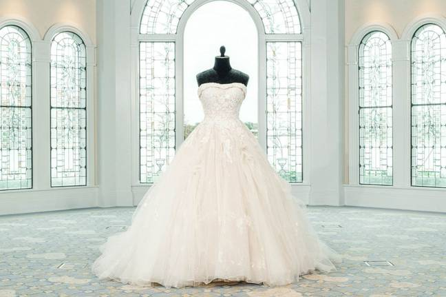 The dresses draw inspiration from Disney Princesses (Disney Fairy Tale Weddings)