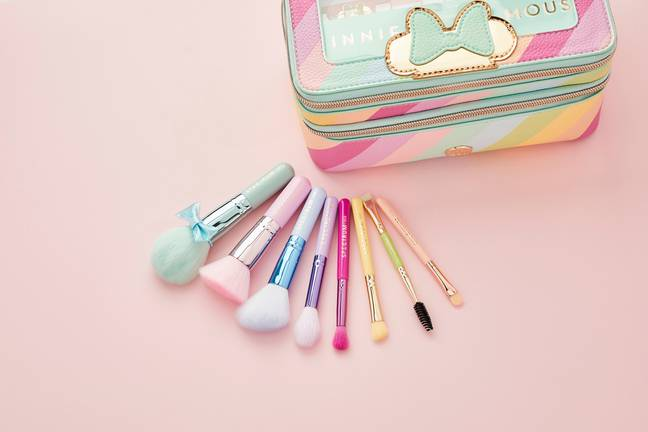 Housed in a pastel-rainbow print carry case, the set is themed around Minnie's sweet and fun-loving nature (Credit: Spectrum Collections)