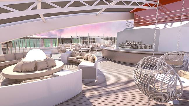 Staying in a suite will give you exclusive access to a roof tap bar. (Credit: Virgin Voyages)