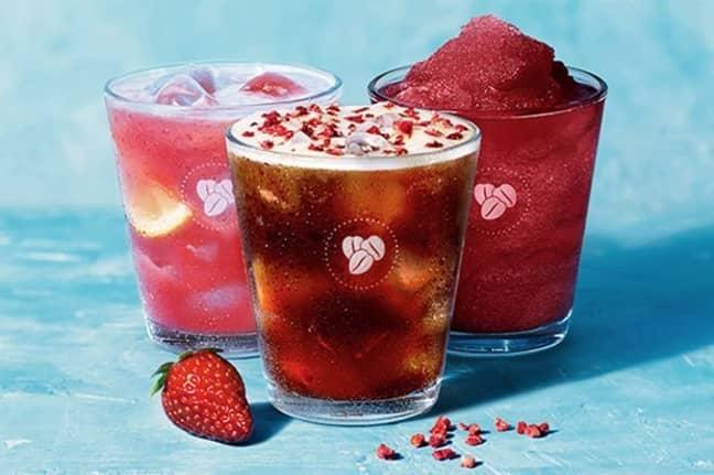 New strawberry drinks. Credit: Costa