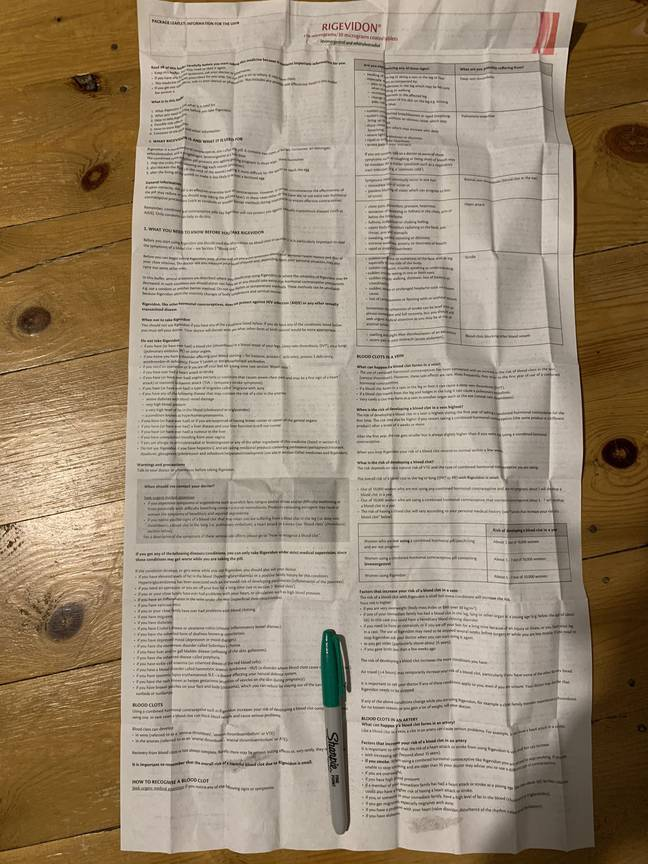 The leaflet is double-sided (Credit: Kennedy)