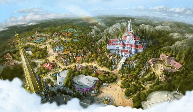 Creators have turned the sites and scenes of Disney's 1991 animated film into three-dimensional reality (Credit: Disney)