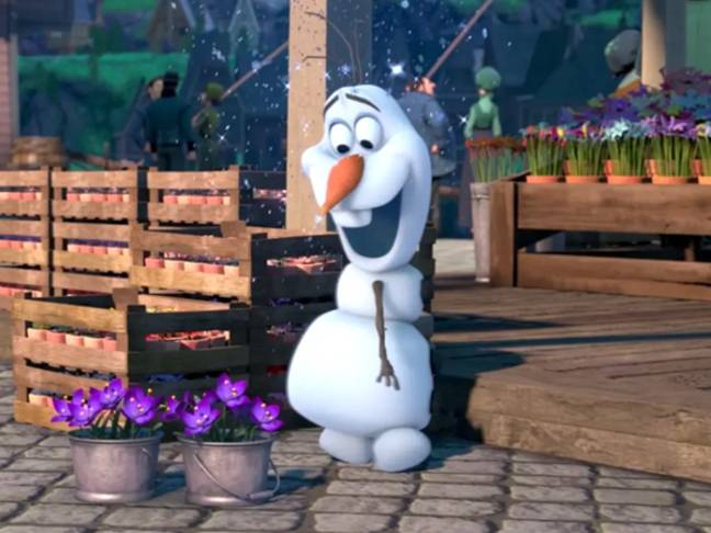 Olaf sets out to find his name in this short animated film (Credit: Disney)