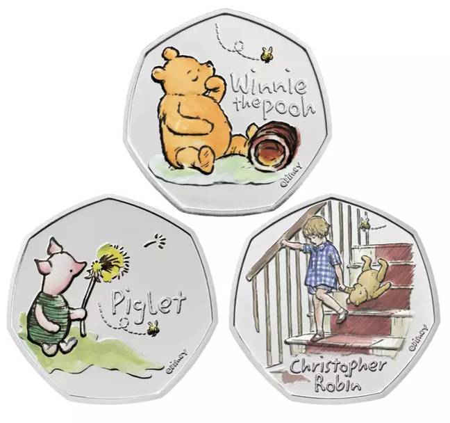 The whole Winnie the Pooh collection (Credit: Royal Mint)