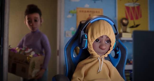 The ad brings us a moody cartoon teen (Credit: McDonald's)