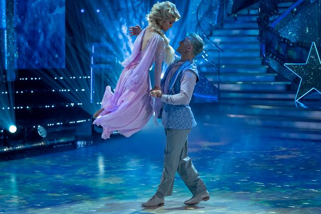 Strictly's Maisie wore pink, not blue (Credit: BBC/Keiron McCarron)