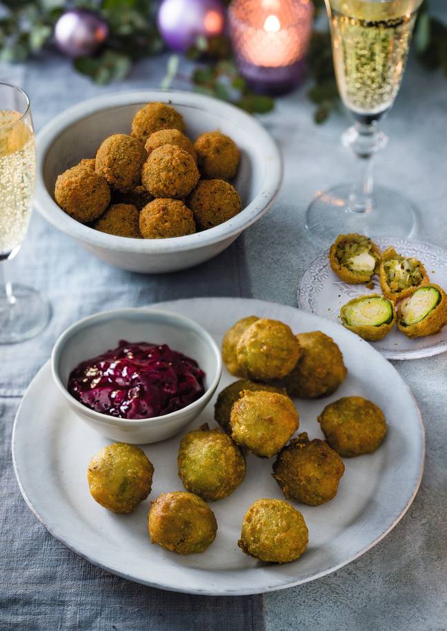 Tesco Mozzarella & Pesto Arancini Balls and Brussels Sprouts Bites cost £3. Credit: Tesco