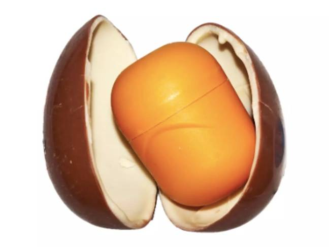 The mini eggs are inspired by the Kinder surprise egg (Credit: Wikimedia)