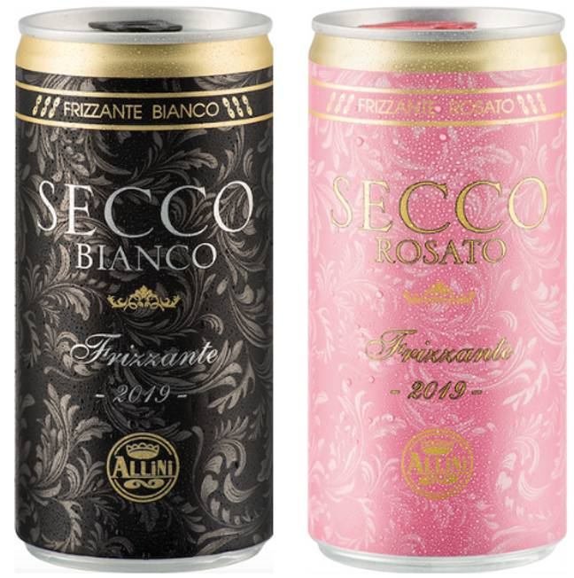 Lidl is selling sparkling wine in a can - and they're only £1.50 each (Credit: Lidl)