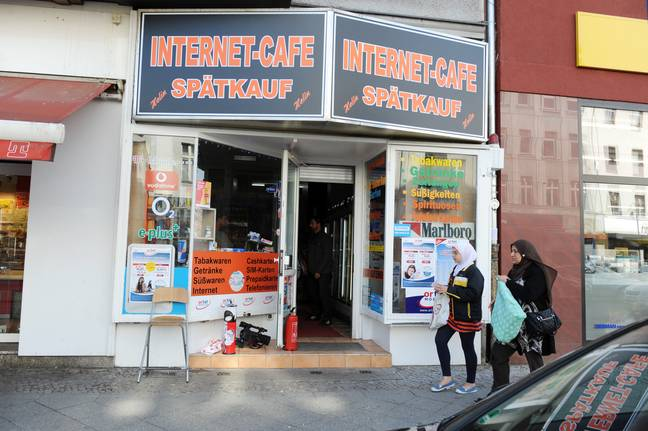 Magnetta was discovered in this Internet cafe in Berlin. (Credit: PA)