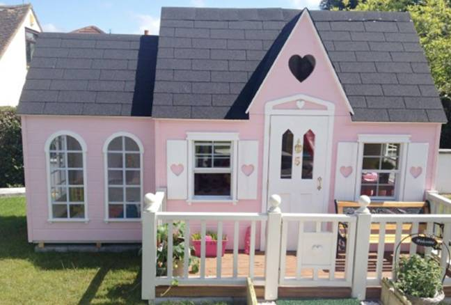 Rochelle Humes' family own a pricey Wendy house from Tinytown Playhomes (Credit: Caters)