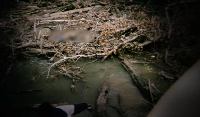 Alonzo's body was found by the creek (Credit: Netflix)