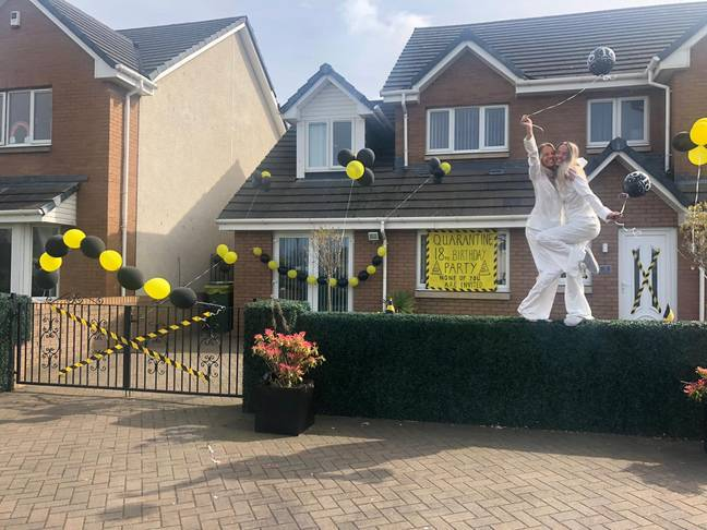 Jess and Toria Hughes were celebrating their 18th in isolation (Credit: Jess Hughes)