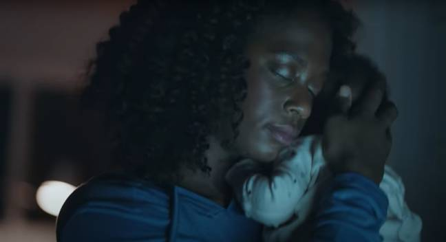 The advert was praised for its realistic depiction of motherhood and its struggles (Credit: Frida Mom)