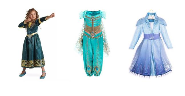 How about dressing up as Merida or Princess Jasmine for the Halloween party? (Credit: Disney)