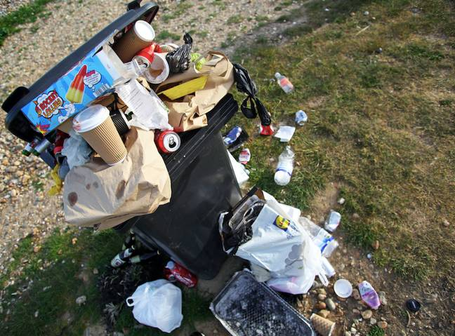 There's a growing litter problem in parks and outdoor spaces (Credit: PA)