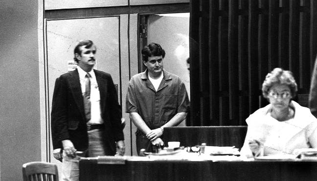 Bobby Joe Long at his murder trial in the US (Credit: PA)