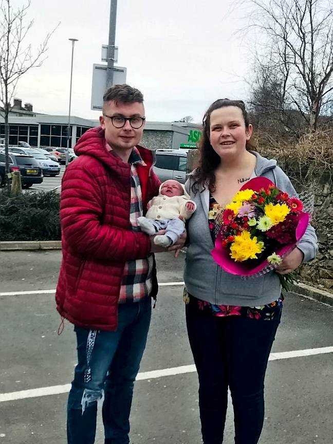 Delyth Jones, 25, from Wales, had no idea she was expecting (Credit: SWNS)
