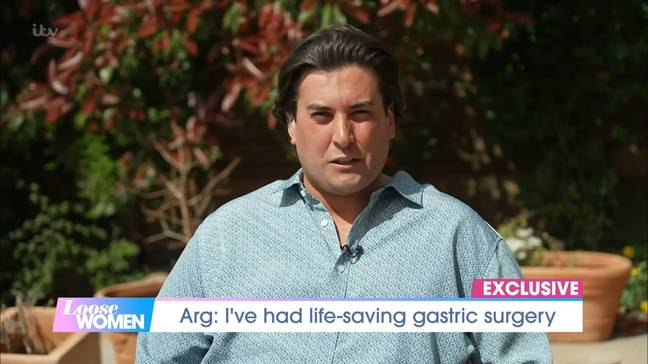 Arg has now lost 2.5 stone (Credit: ITV)