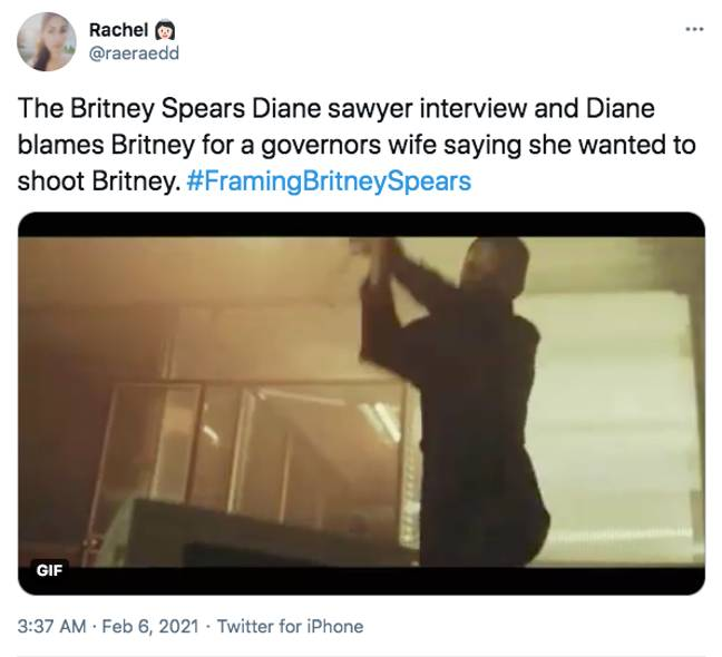 Others were so angry at how Britney was made out to be to blame (Credit: Twitter)
