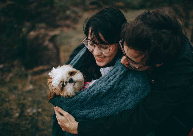 60 per cent of couples say they've been stronger since getting a dog. (Credit: Pexels)