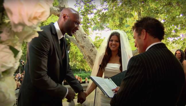 Khloe marries Lamar in the opening episode of series 4 - what a throwback, eh? (Credit: E! / Netflix)