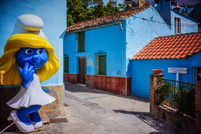 All the homes are painted blue (Credit: Shutterstock)