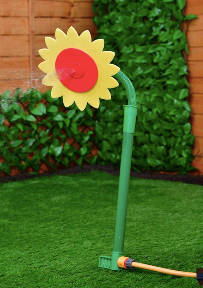 The sunflower sprinkler is available at B&M for £4 (Credit: B&M)