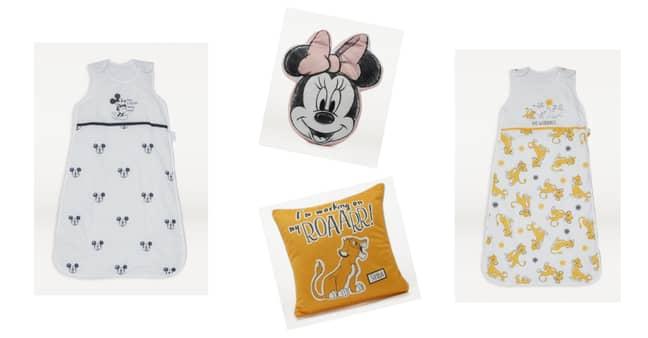 Sleeping Bags, £15, Lion King Cushion, £7, Minnie Mouse Cushion, £7 (Credit: George)