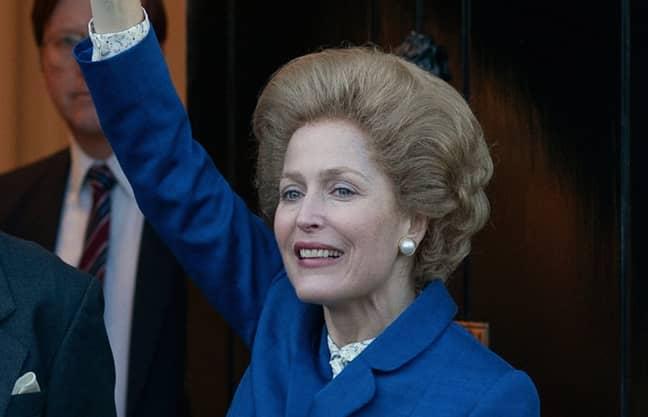 Gillian Anderson as Margaret Thatcher (Credit: Netflix)