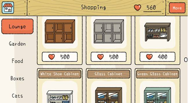 Once you've won your 'love' you can go shopping with it (Credit: Adorable Home / HyperBeard)