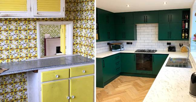 The kitchen was completely redone (Credit: Caters)
