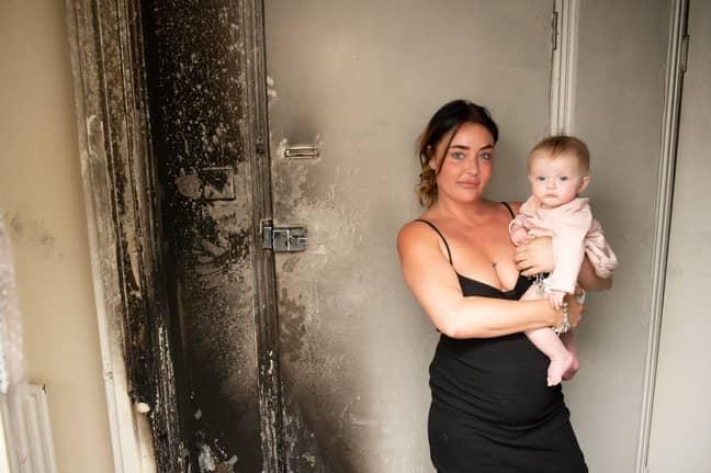 The wax melt burner ruined Vikki's flat (Credit: SWNS)